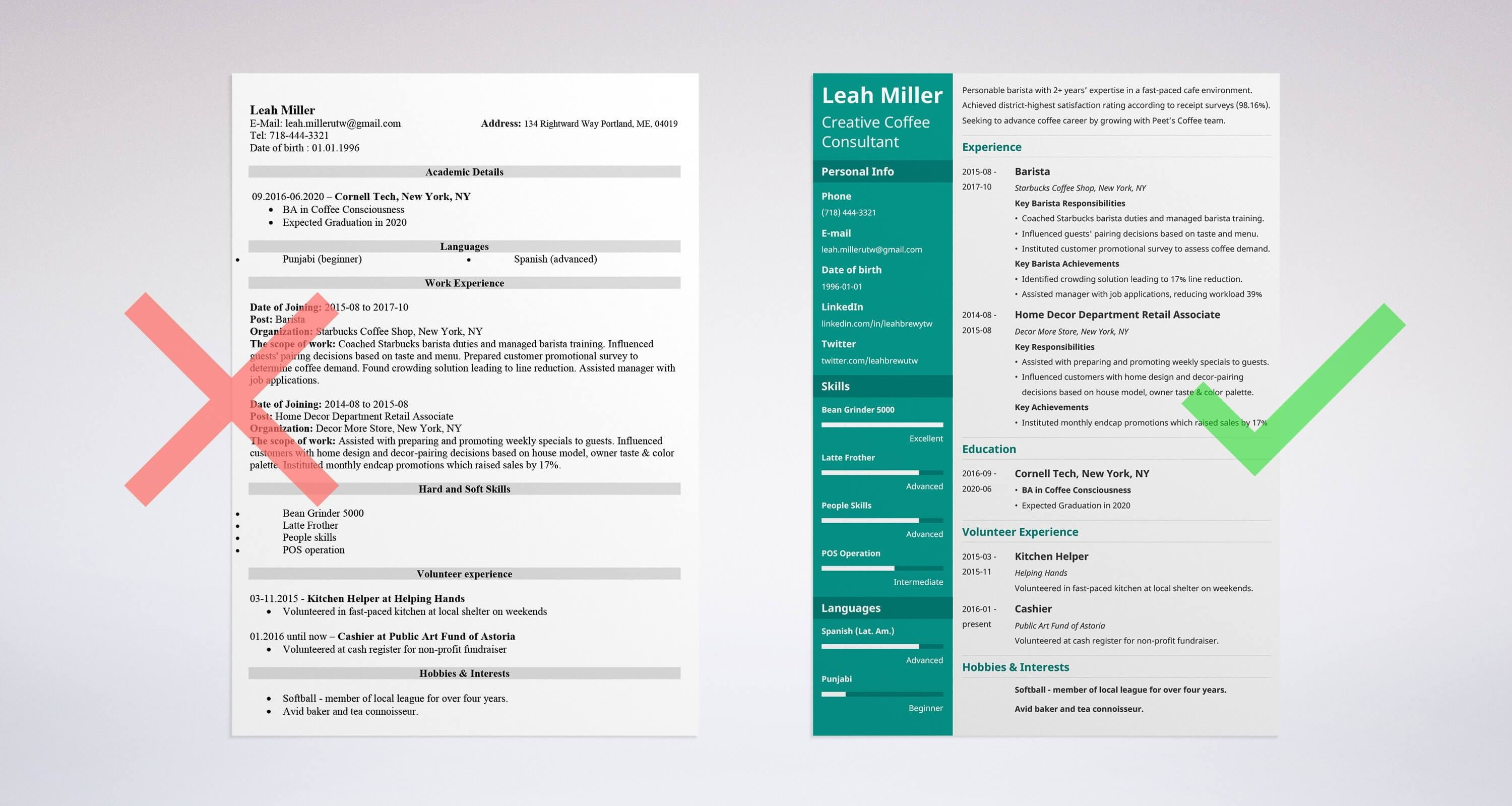 Barista Resume: Sample and Complete Guide [20+ Examples]