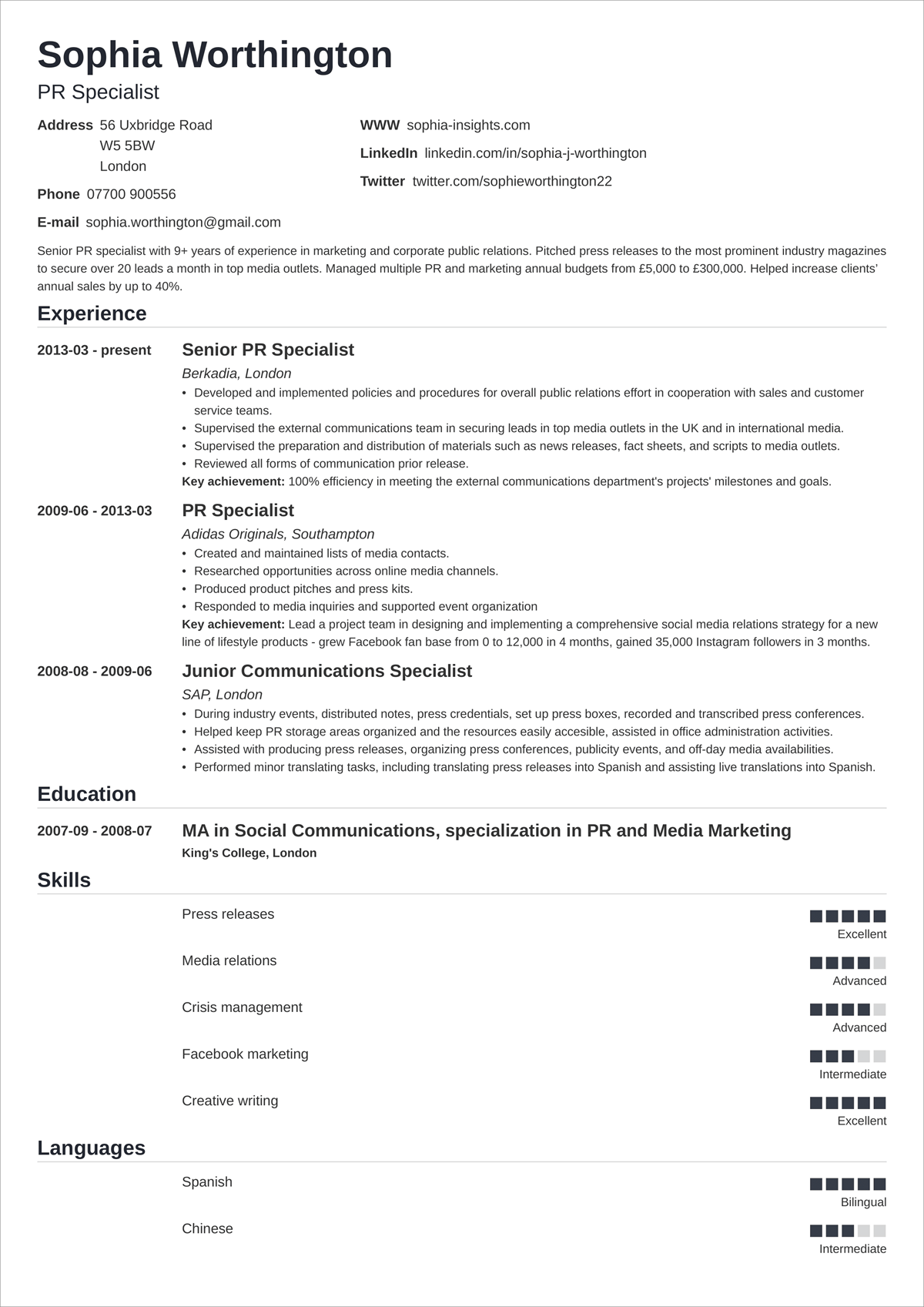 18  simple  u0026 basic cv templates with easy to use layout