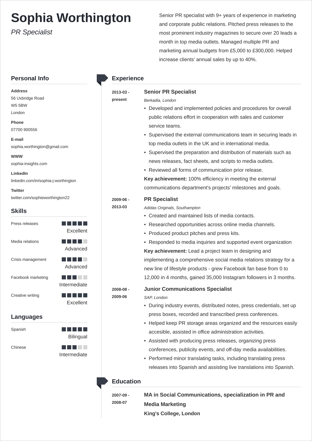 18+ Simple & Basic CV Templates with Easy to Use Layout