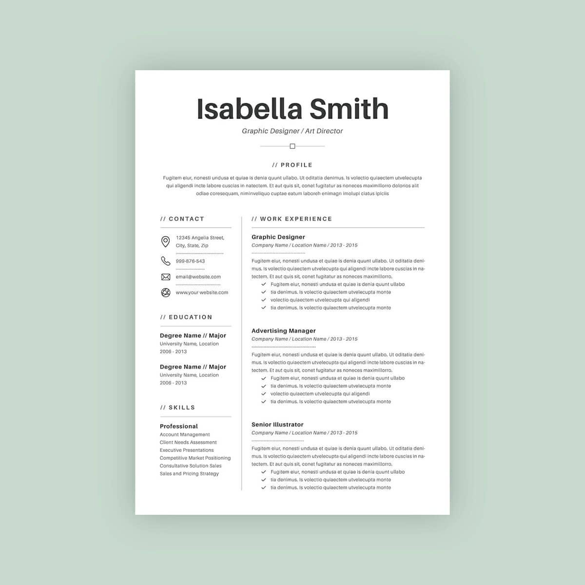 Basic Template For Resume With A Lot Of Experience. U201c  Resume Templates With Photo