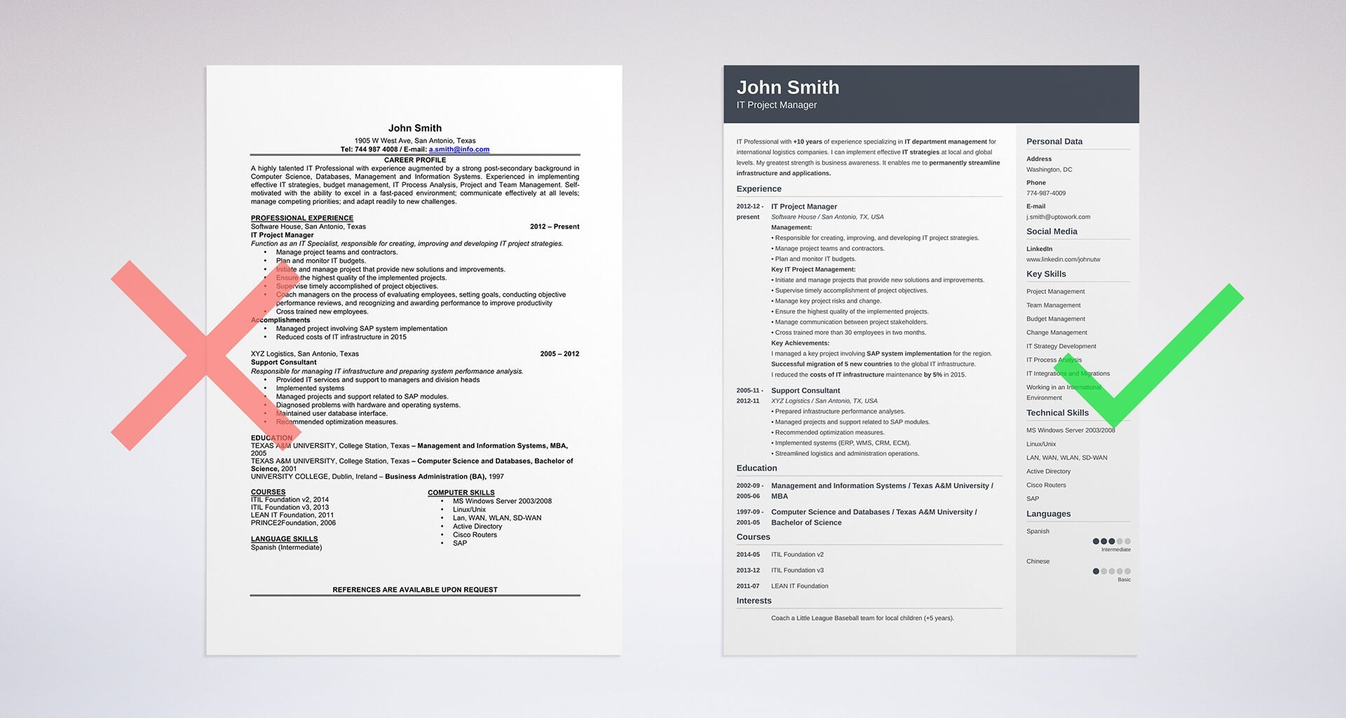 resume template uptowork - Objectives Professional Resumes