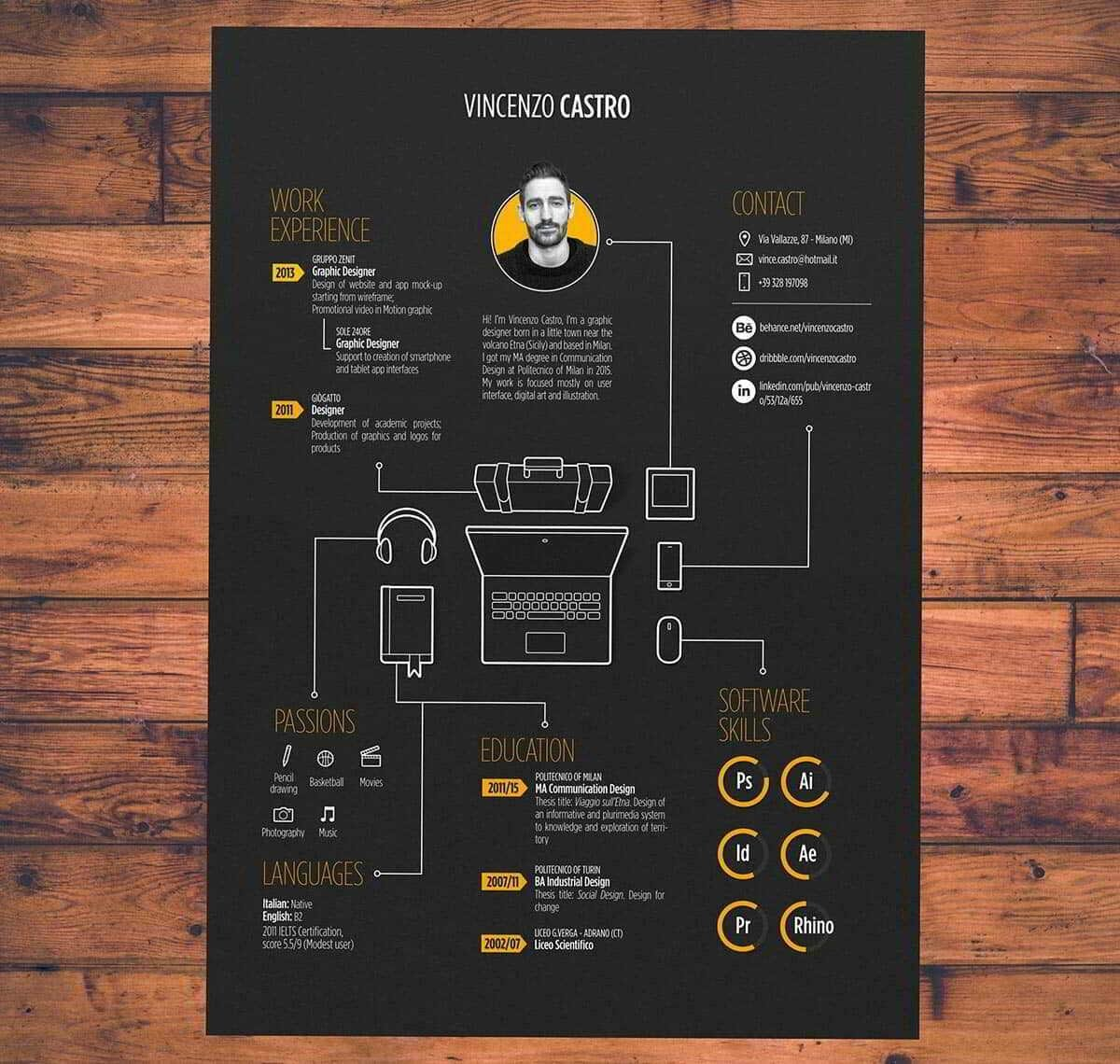 best infographic resume template for download