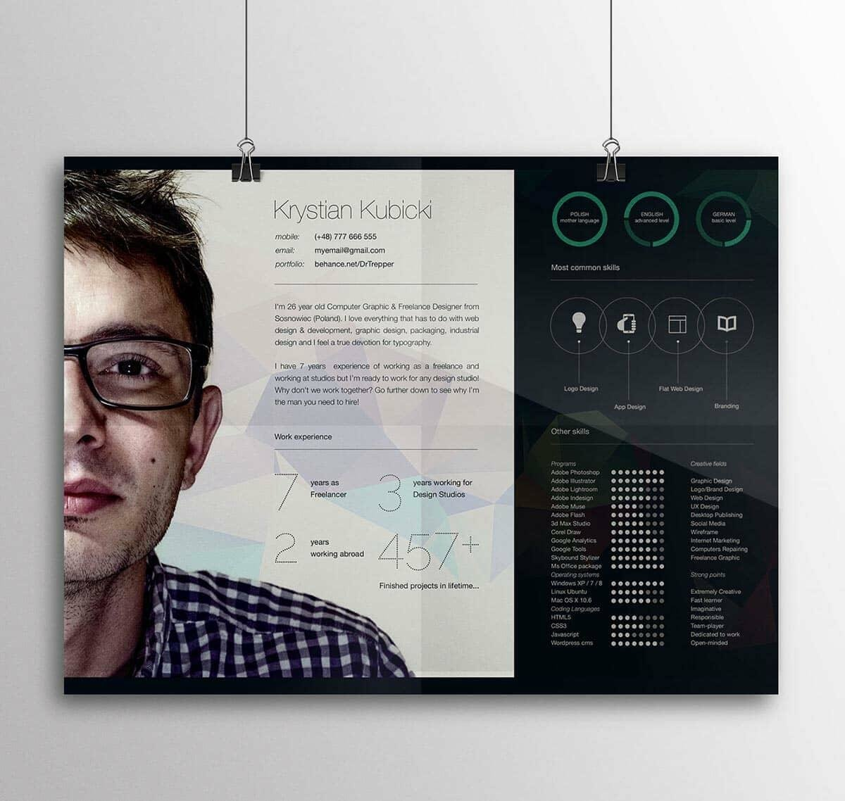 best resume template to use with big picture