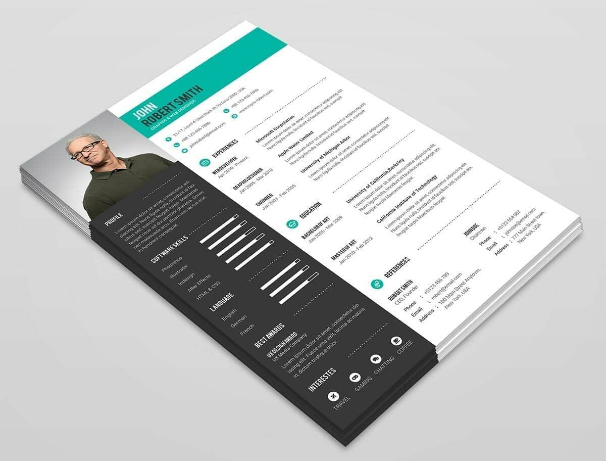pile of best professional resume templates