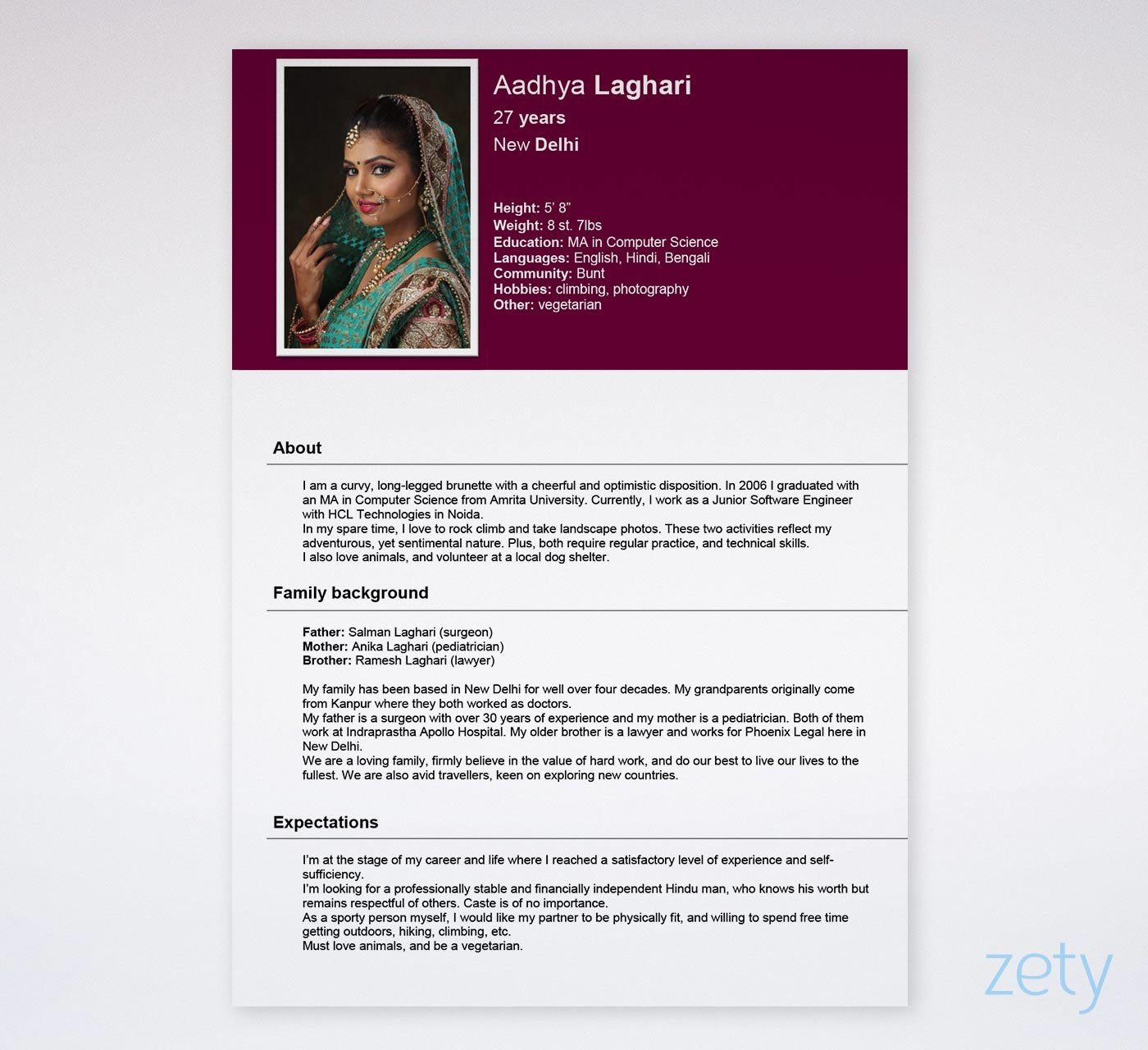biodata format  free templates for a job  u0026 marriage  free