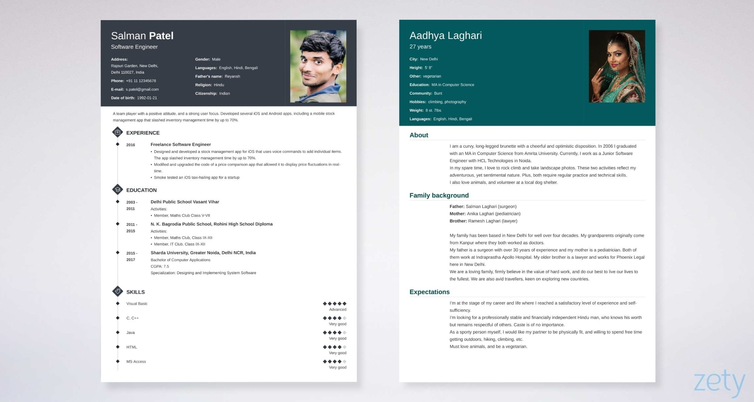 Biodata Format: Free Templates for a Job & Marriage [Free