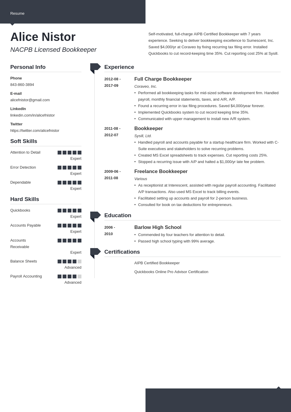 bookkeeper resume example template modern