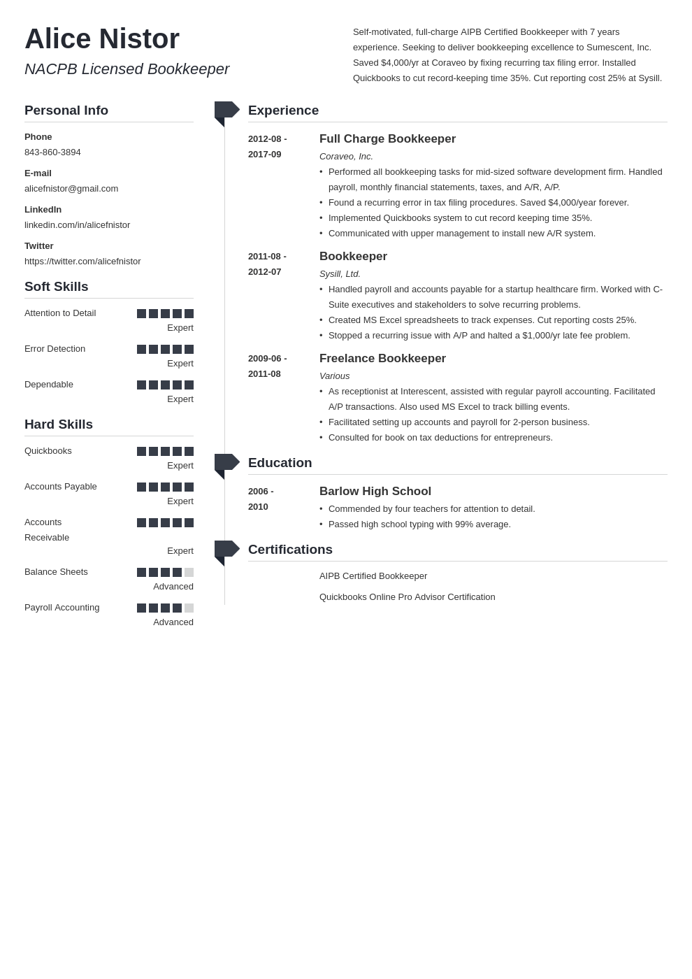 bookkeeper resume example template muse