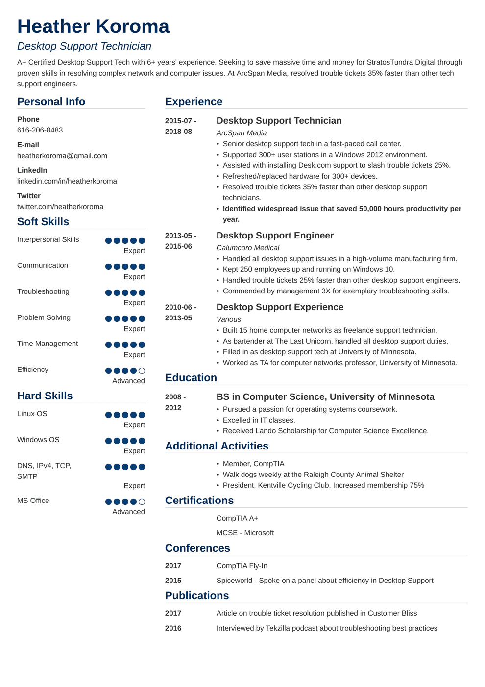 Bookkeeper Resume Sample And Complete Guide 20 Examples