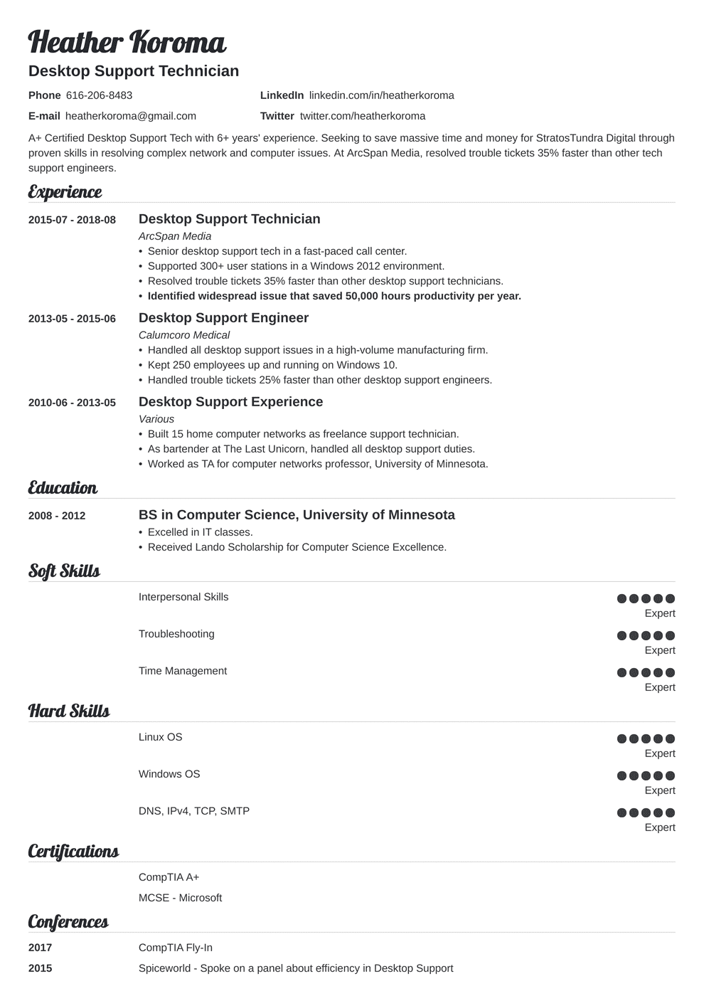 Bookkeeper Resume: Sample and Complete Guide [+20 Examples]