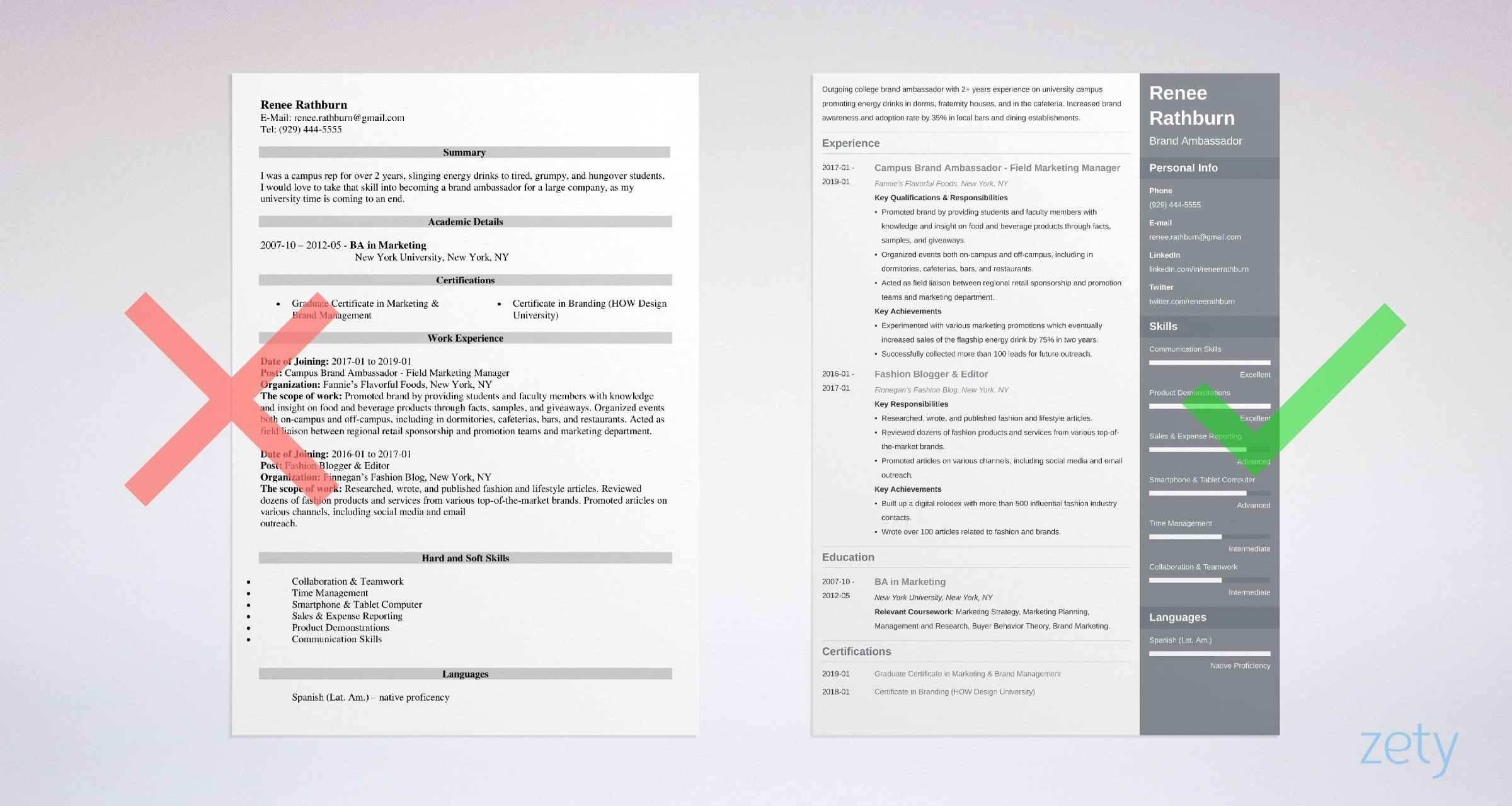 Brand Ambassador Resume Sample Writing Guide 20 Examples