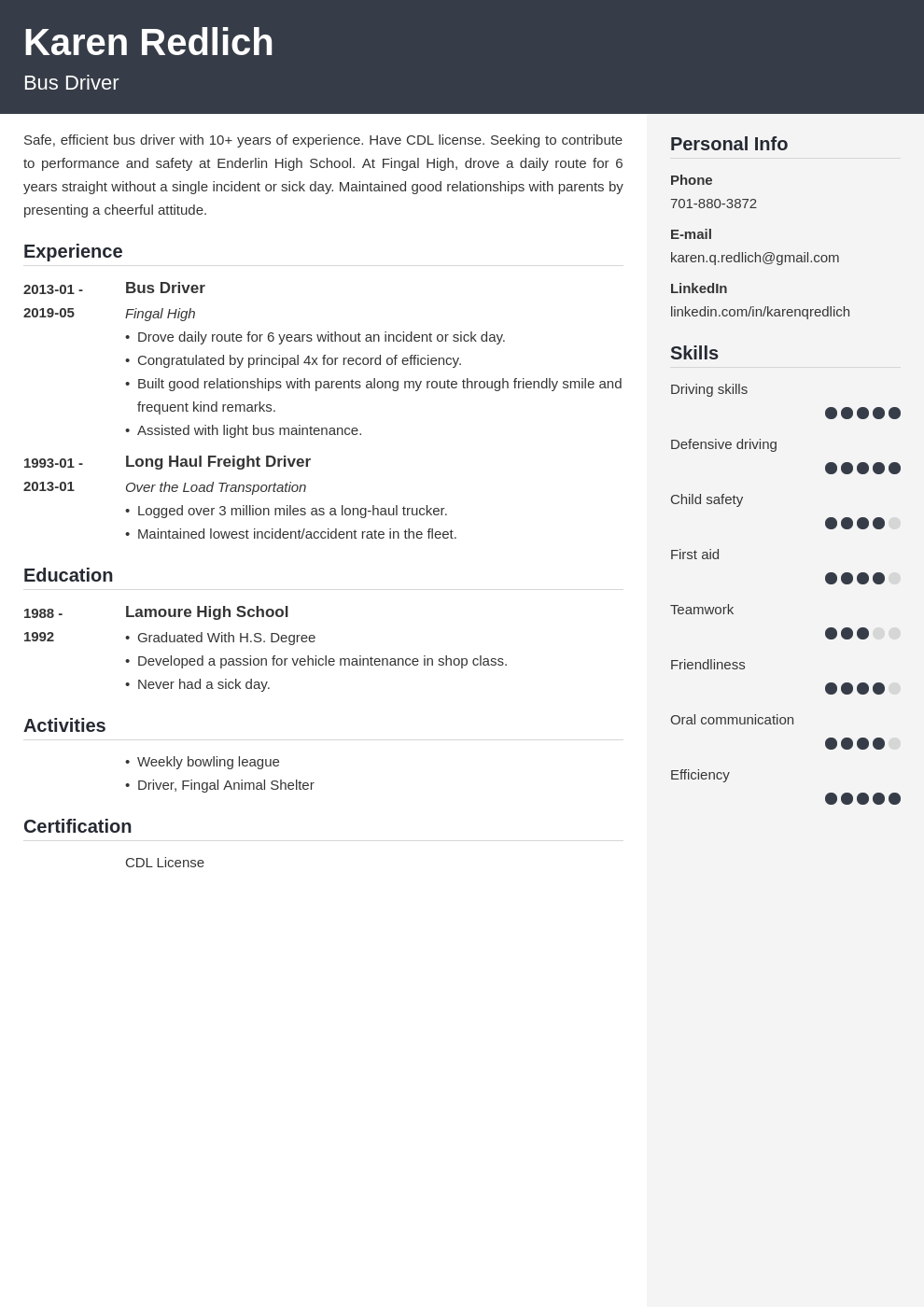 bus driver resume example template cubic