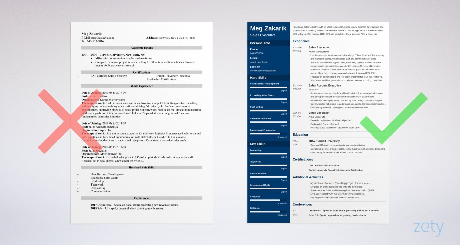 business resume templates