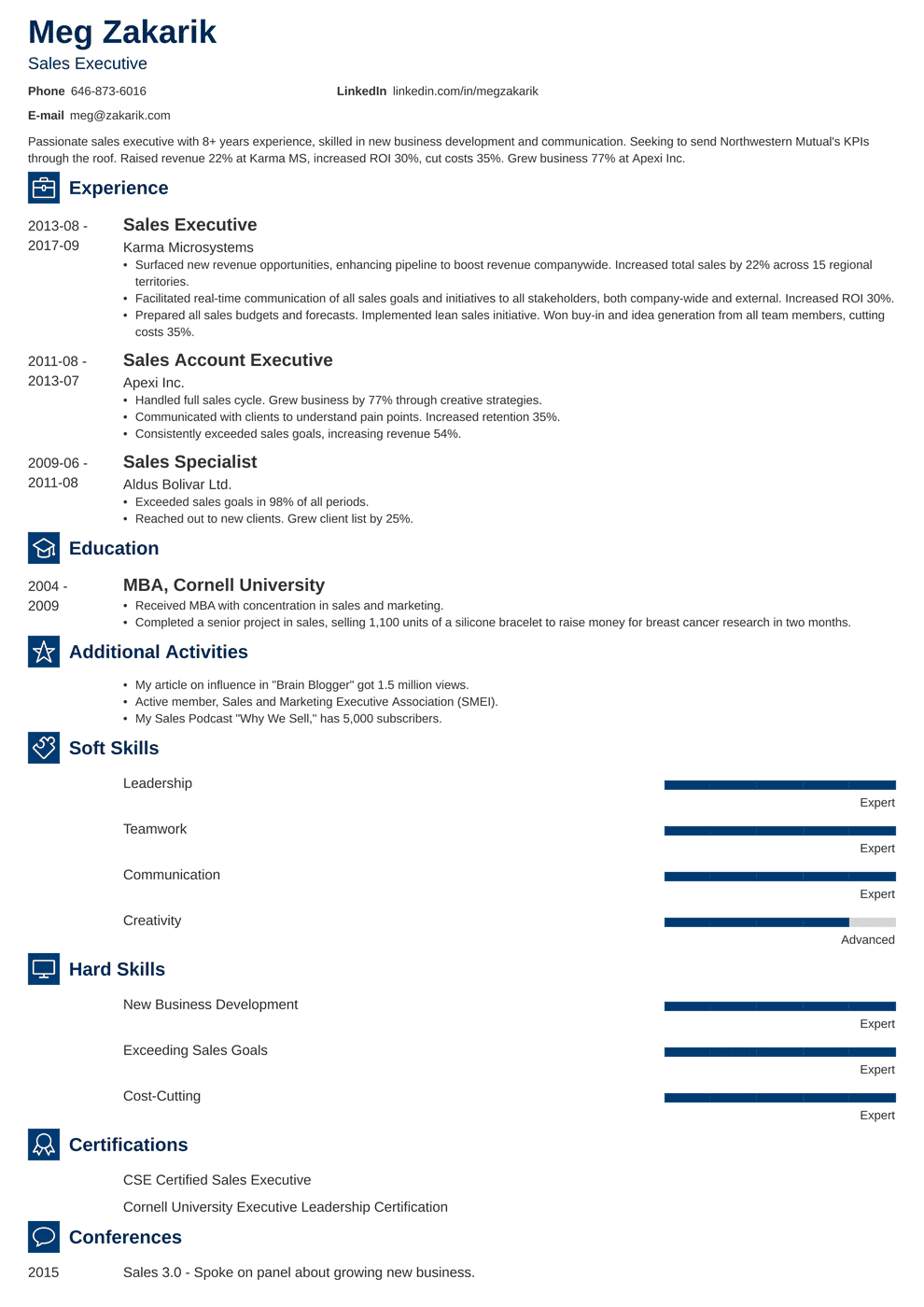Business Resume: Sample & Writing Guide (20+ Examples)