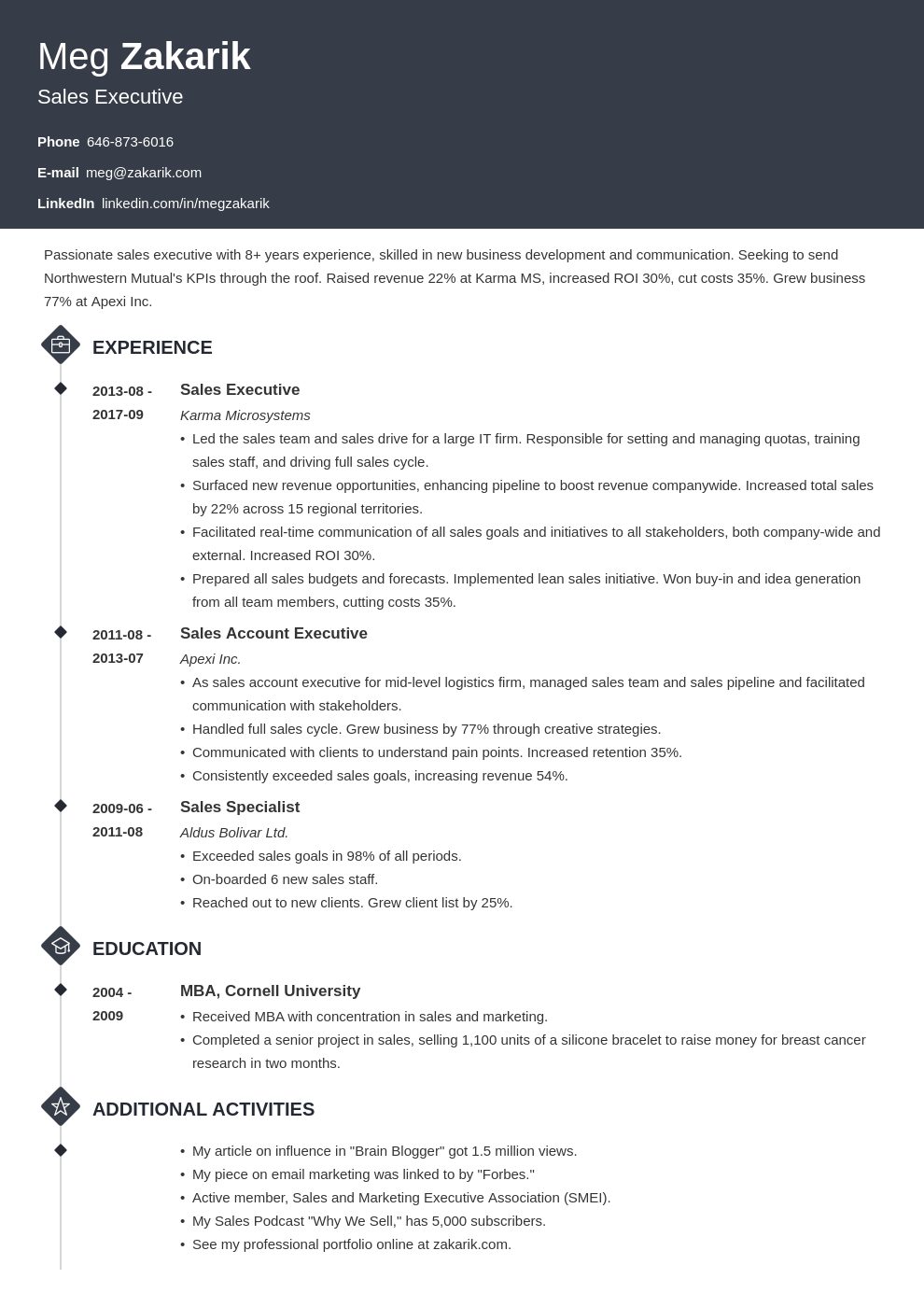 business resume example template diamond