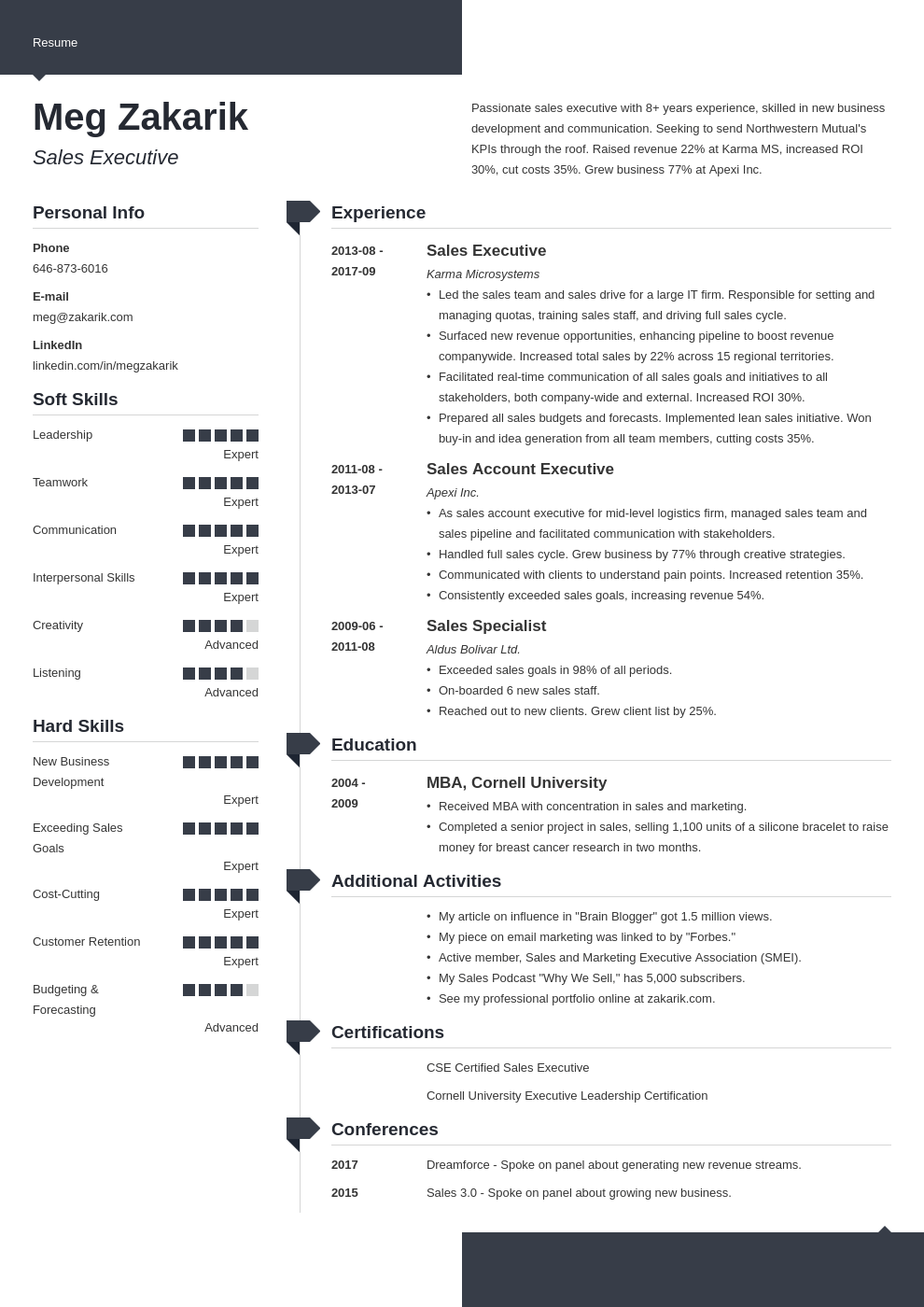 business resume example template modern