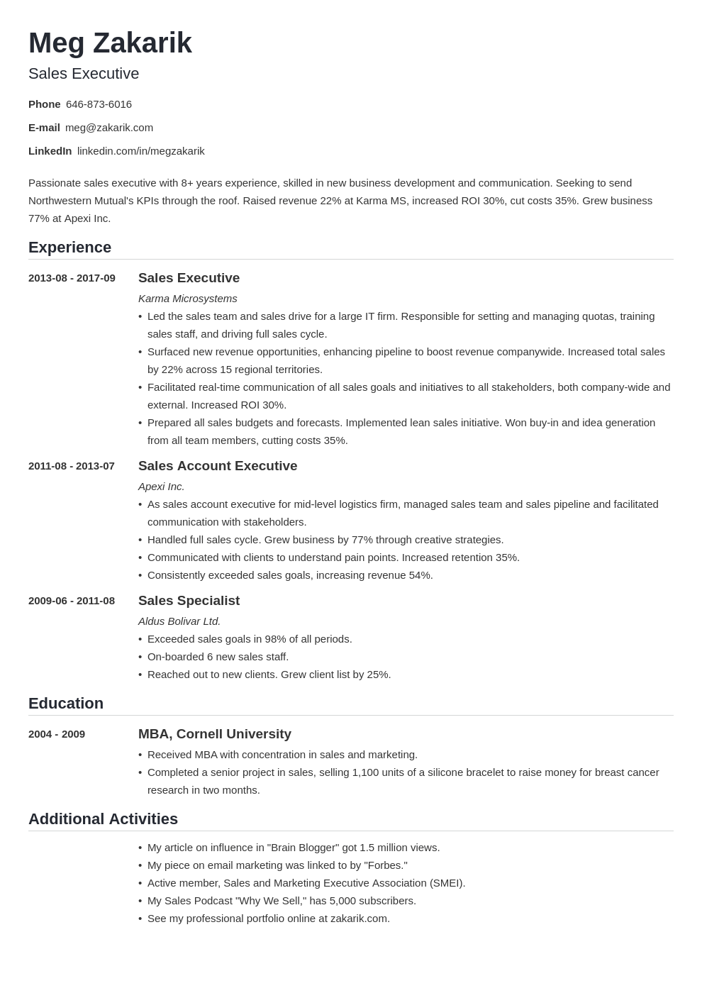 business resume example template nanica