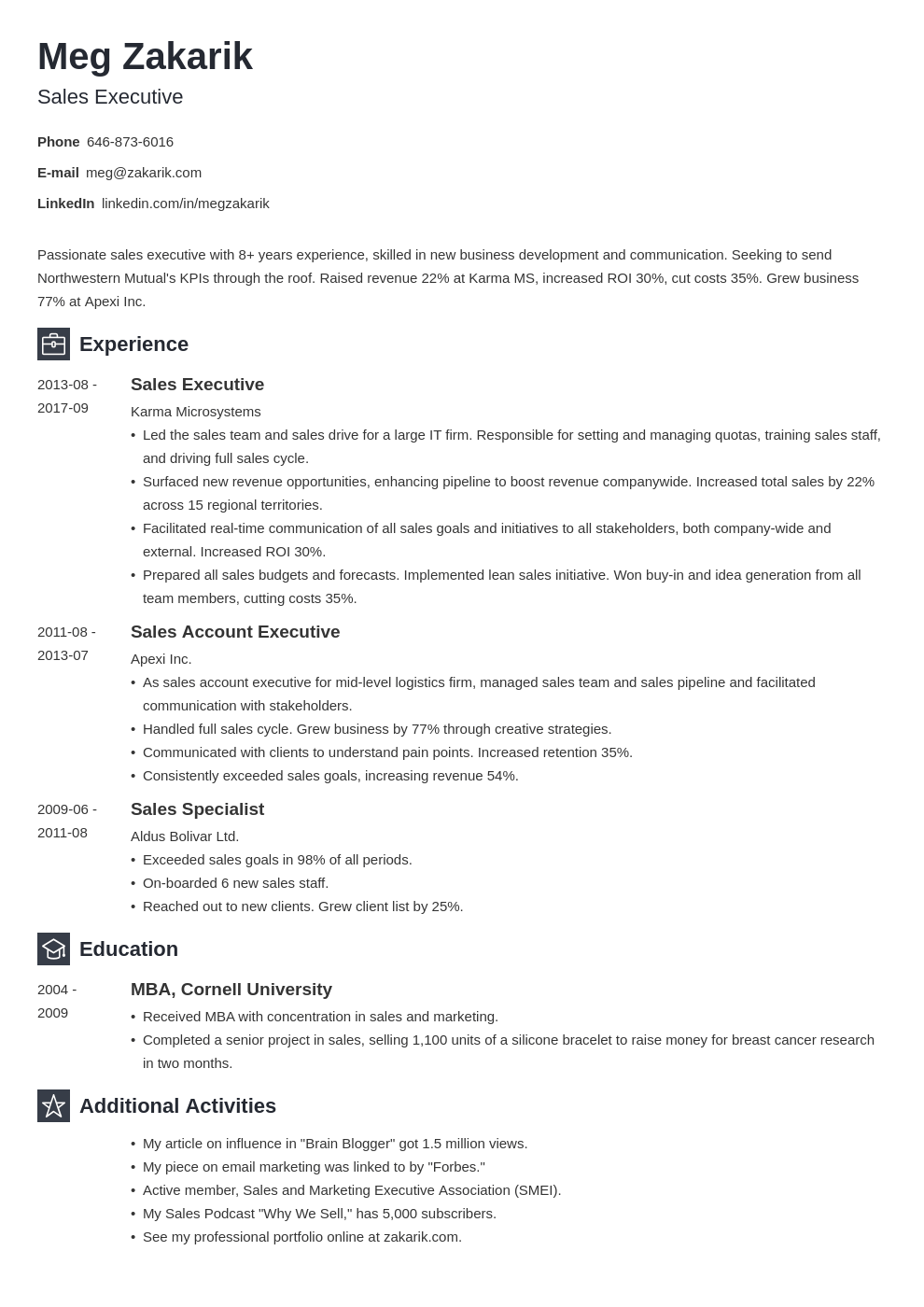 business resume example template newcast