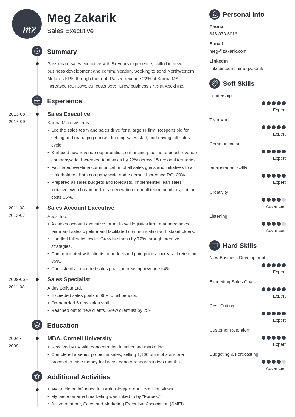 business resume example template primo