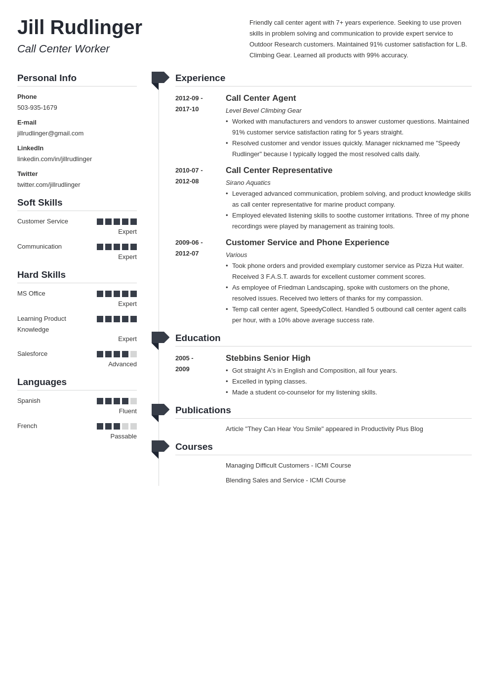 call center resume example template muse
