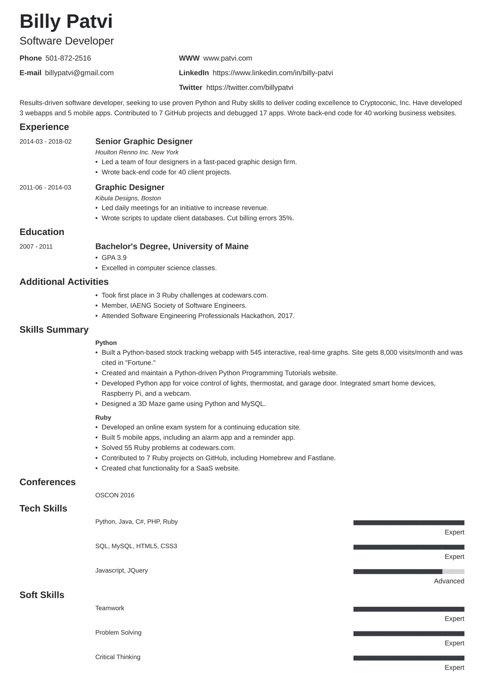 Career Change Resume Samples & Template