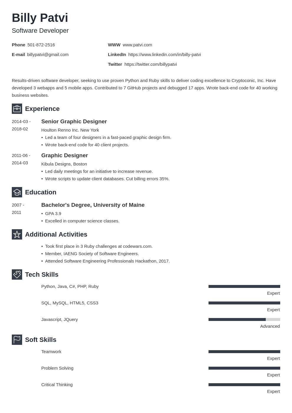 career change resume template newcast