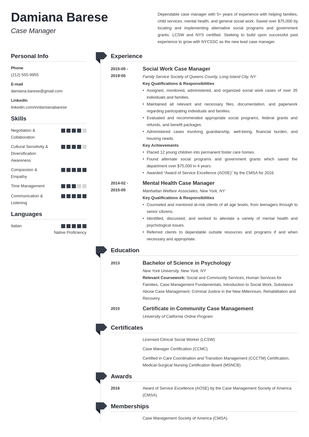 case manager resume example template muse