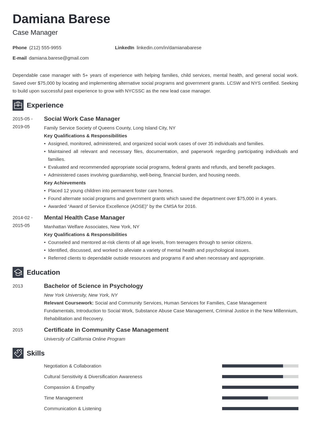 case manager resume example template newcast