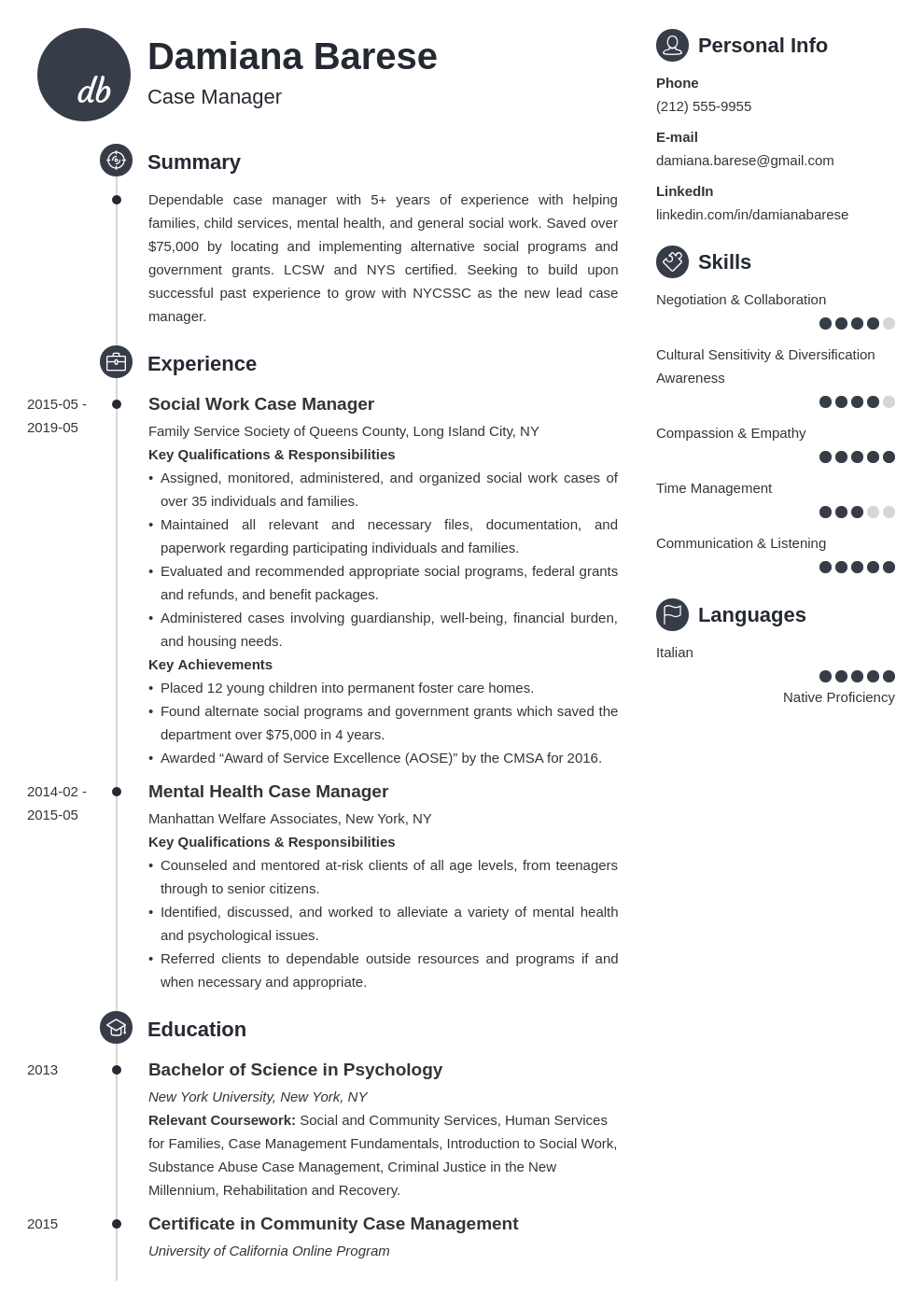 case manager resume example template primo