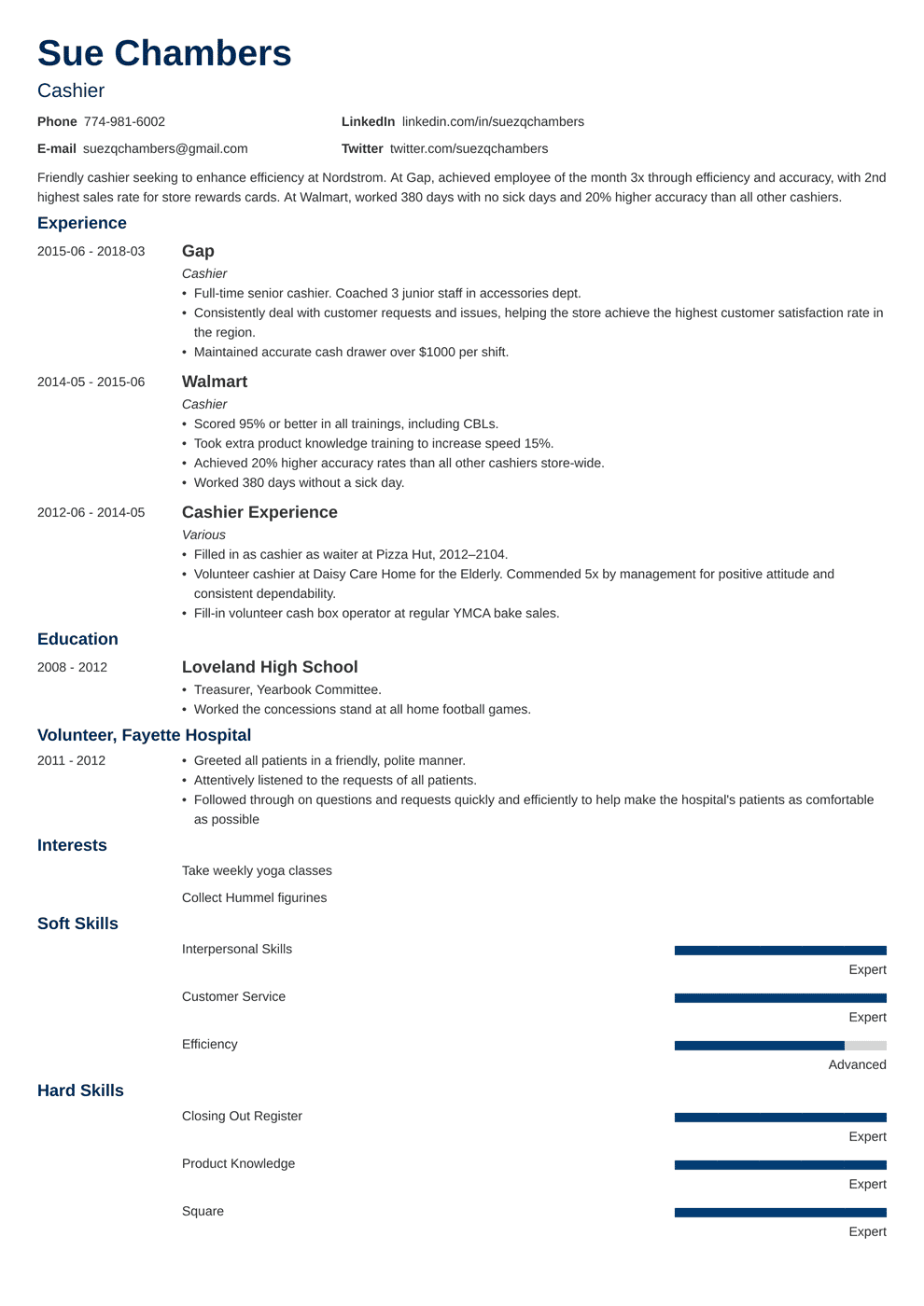 cashier resume samples and complete writing guide 20 examples