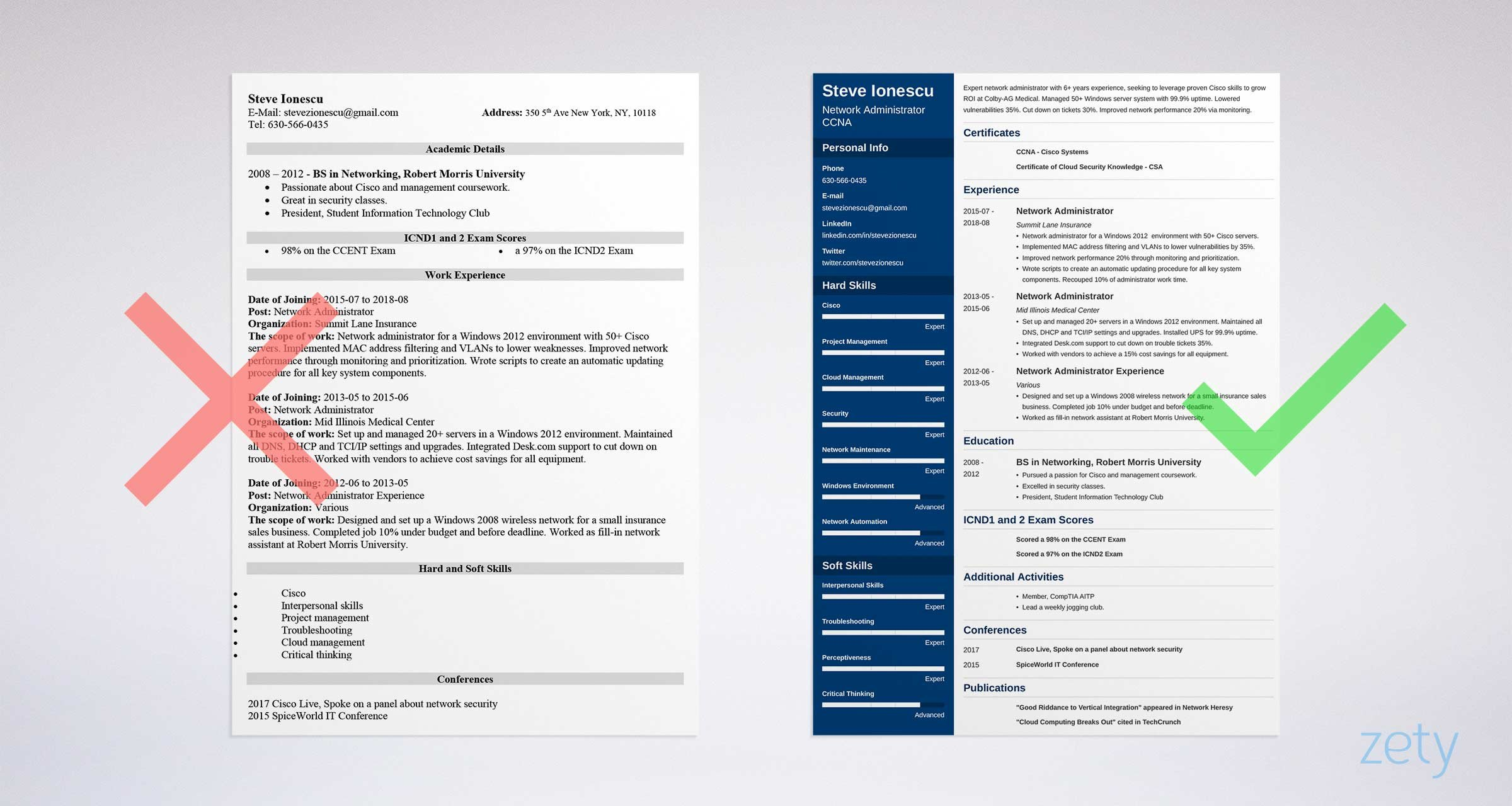 Network Administrator Resume Example   See +20 Resume Templates And Create  Your Resume Here