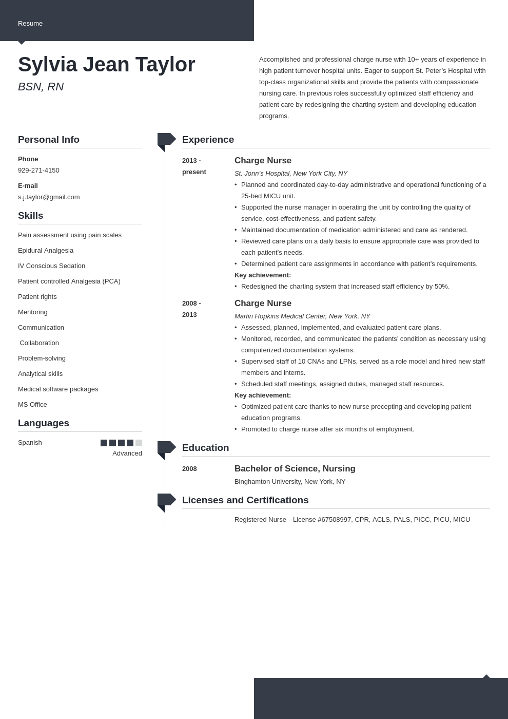 charge nurse resume example template modern
