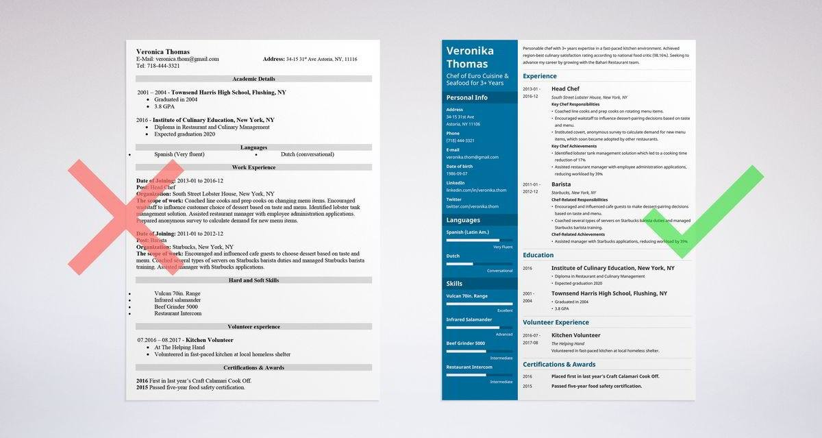 chef resume sample complete guide 20 examples - Chef Resume Example