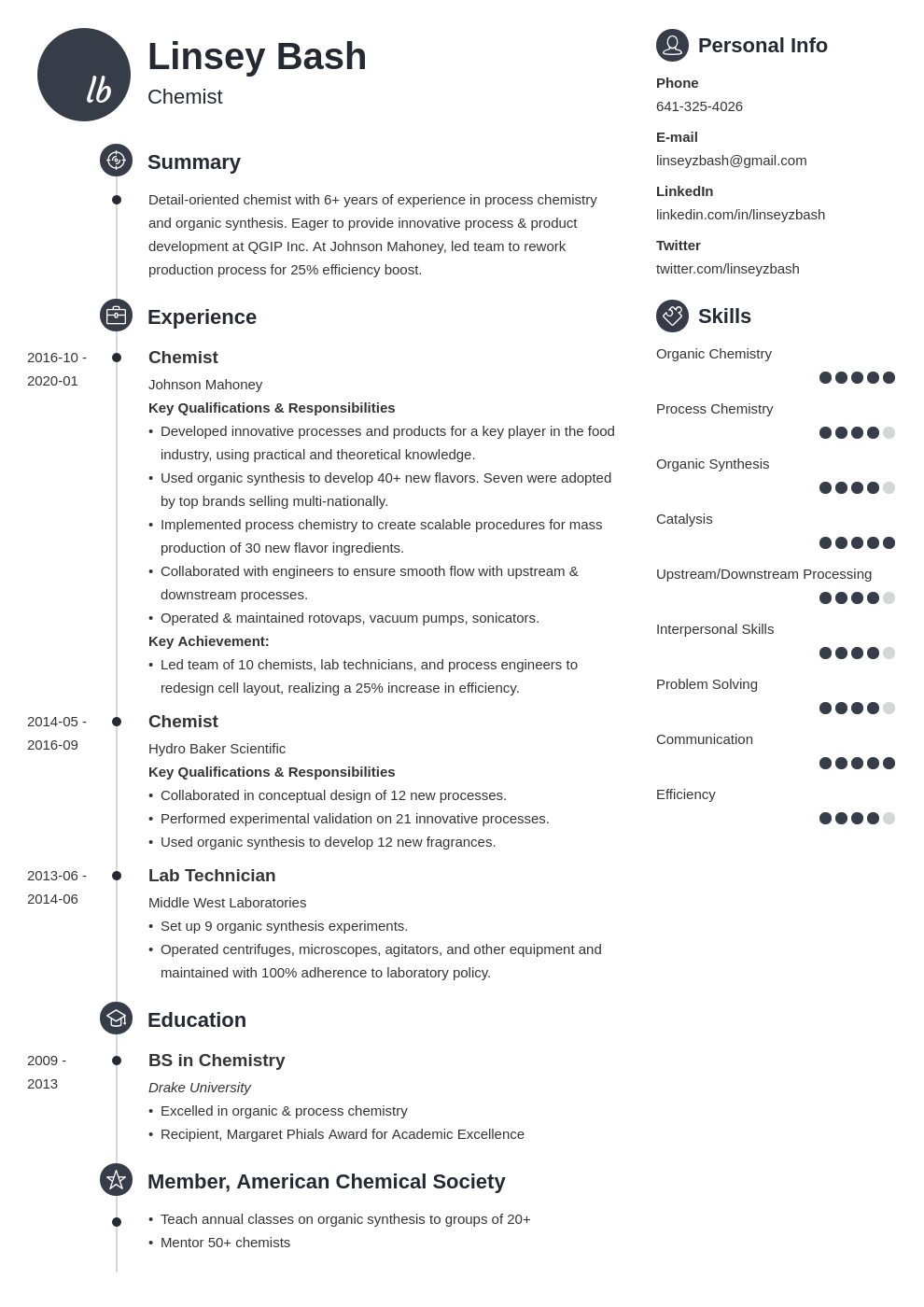 chemistry resume example template primo