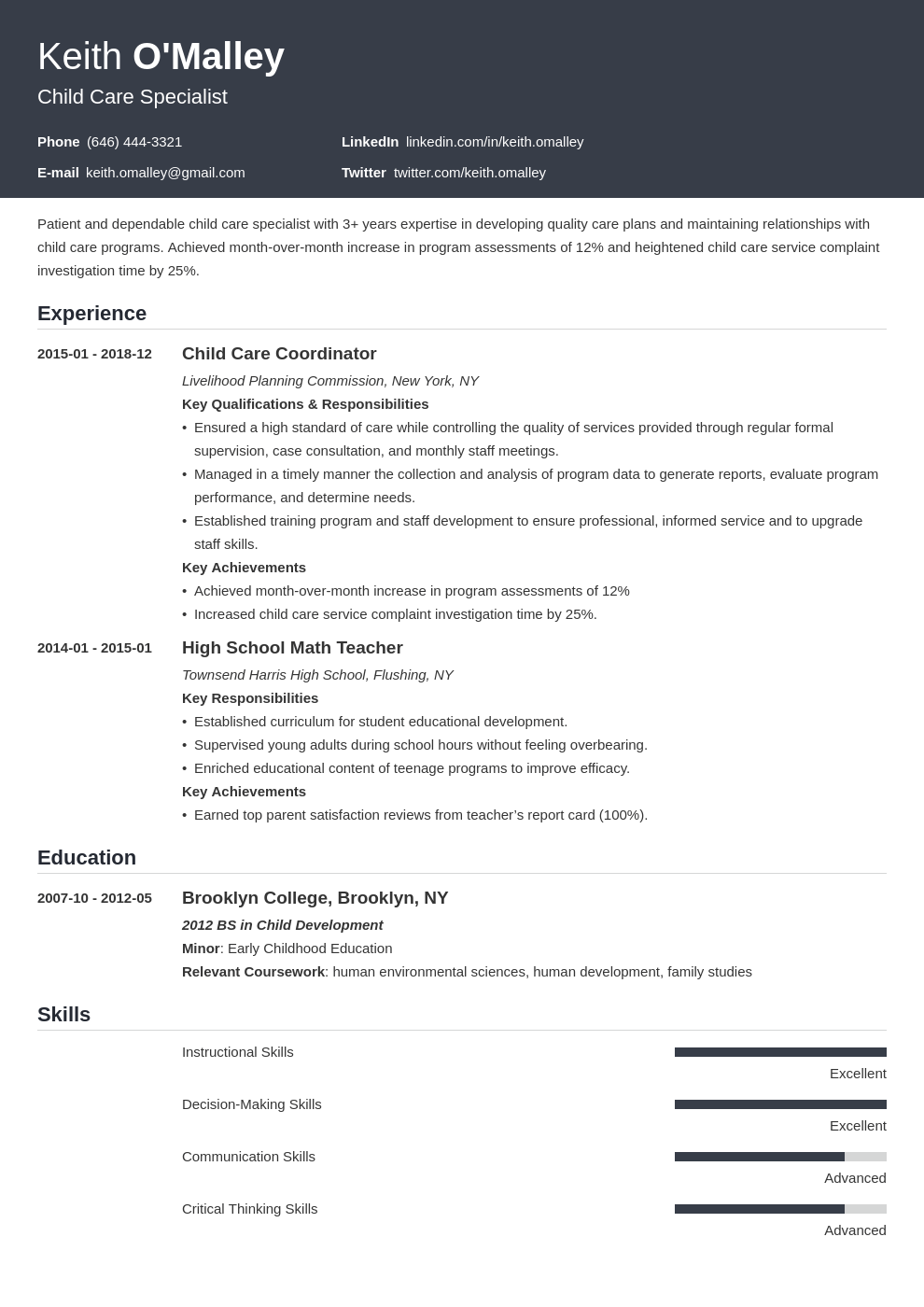 child care resume example template influx