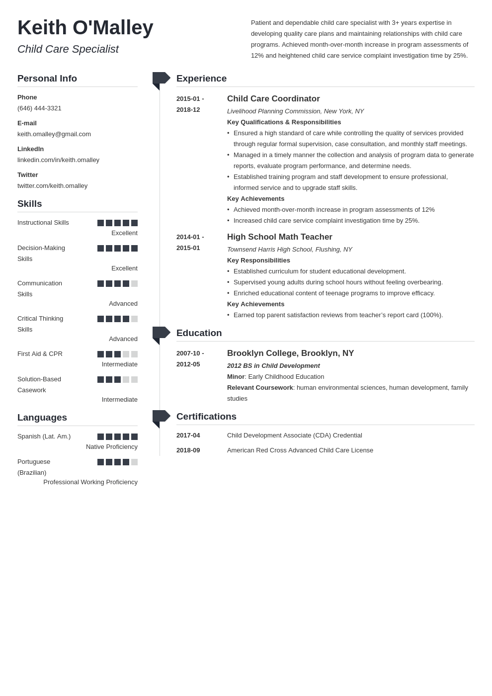child care resume example template muse