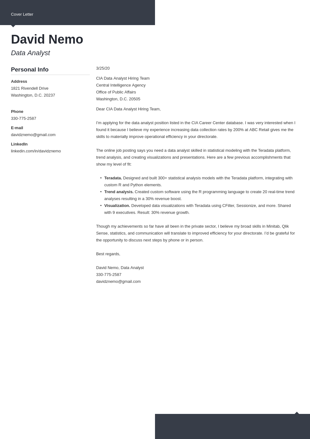 Cia Cover Letter Samples Guide Plus Address And Format