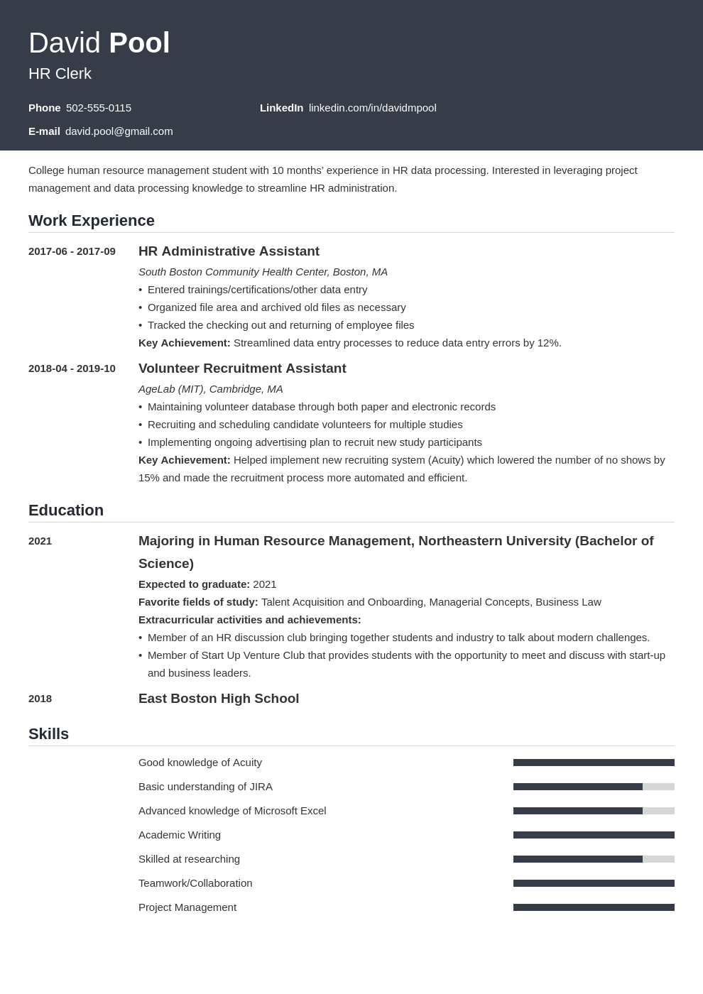 College Freshman Resume Template Guide 20 Examples