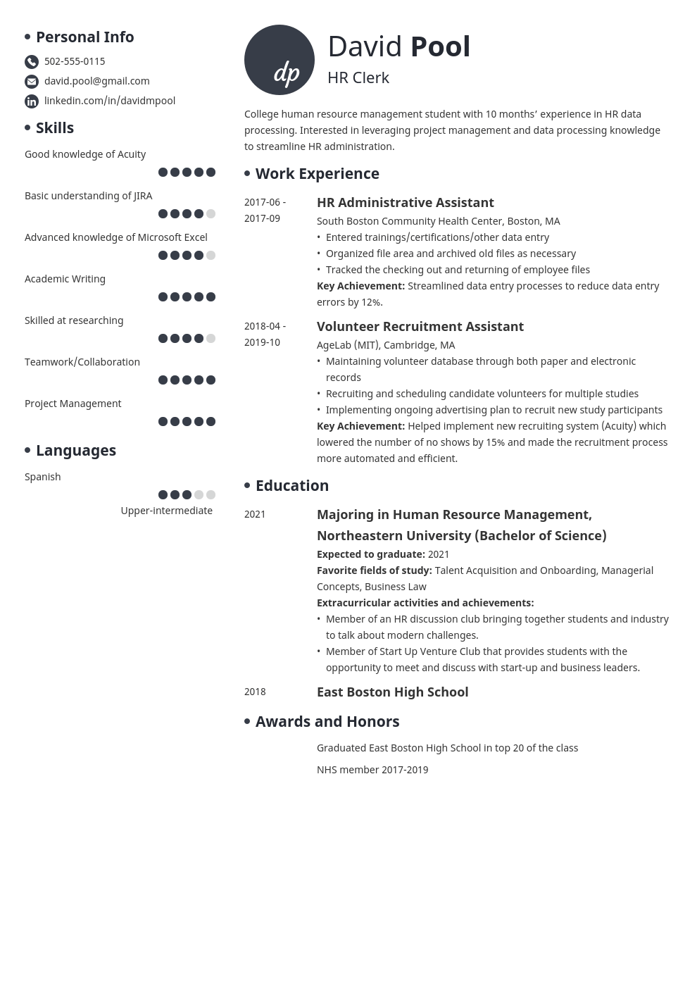 college freshman resume example template initials