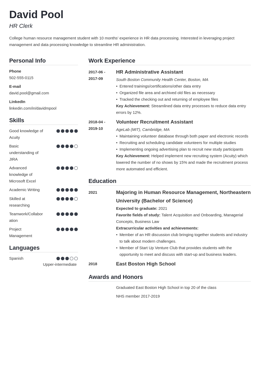 college freshman resume example template simple