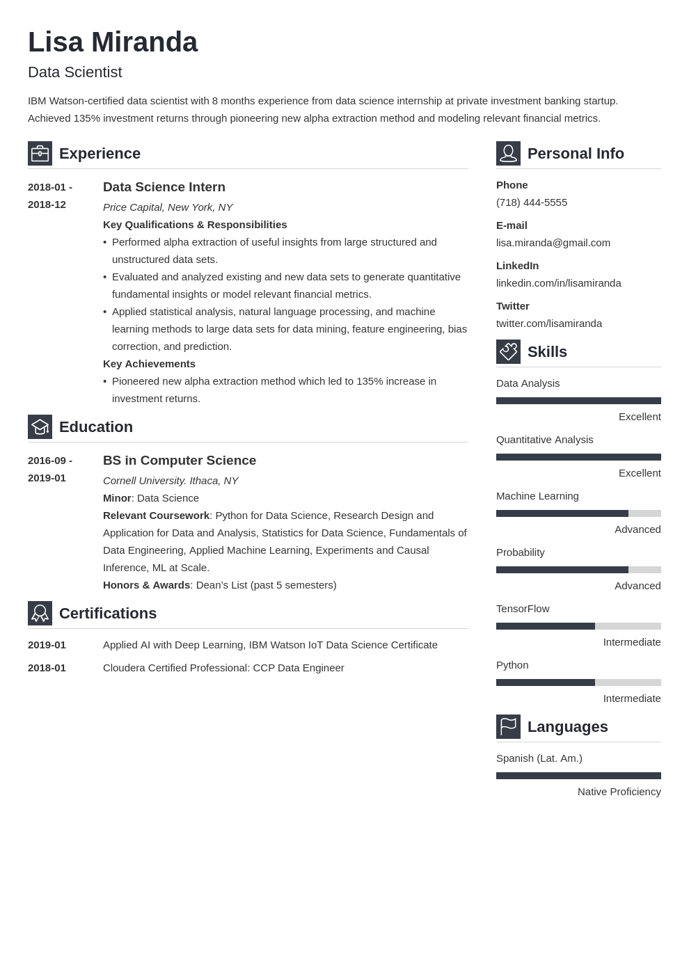Recent College Graduate Resume Examples For New Grads