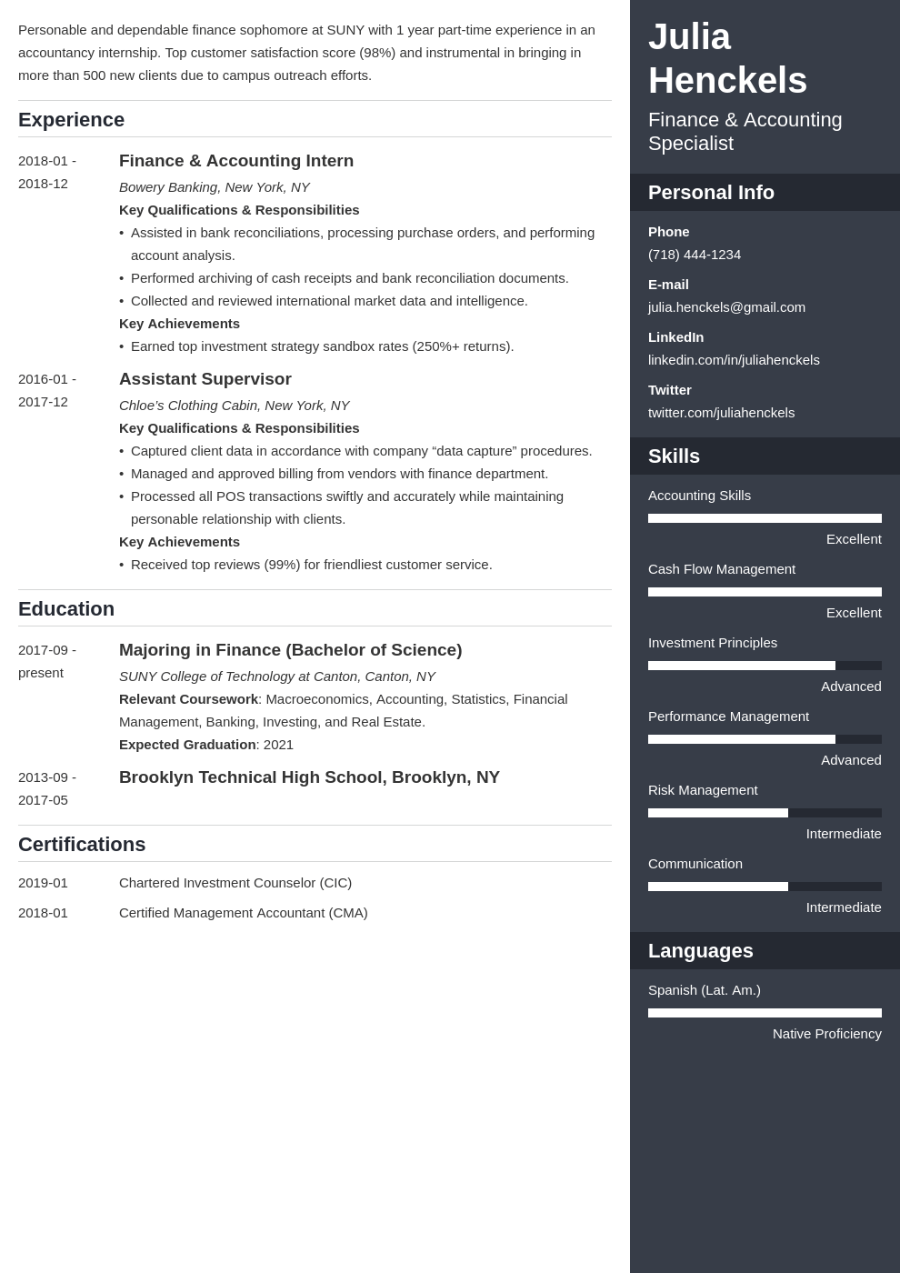 college student resume example template enfold