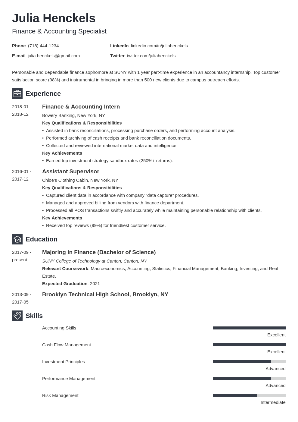 college student resume example template newcast