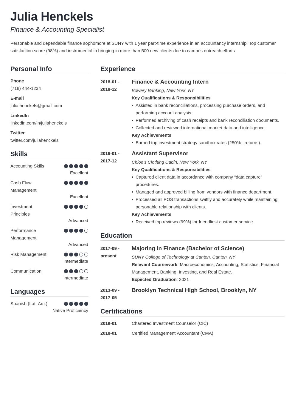 college student resume example template simple