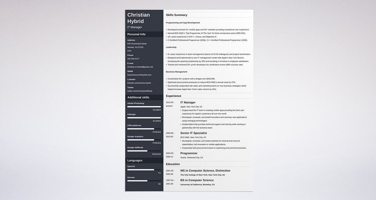combination resume template 5 examples complete guide