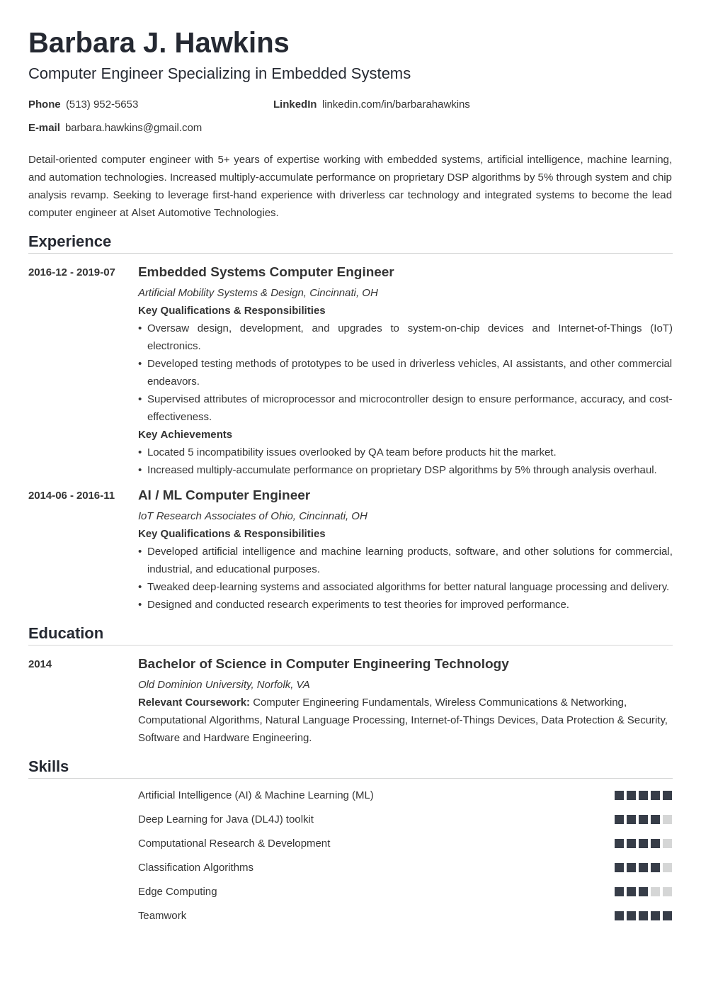 computer engineering resume example template nanica