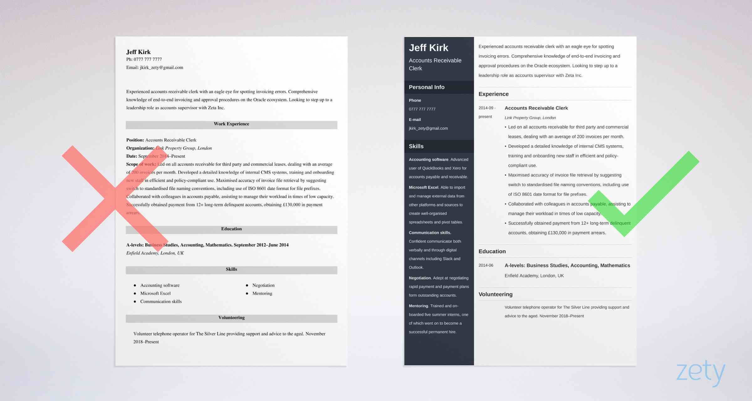 sample cv templates