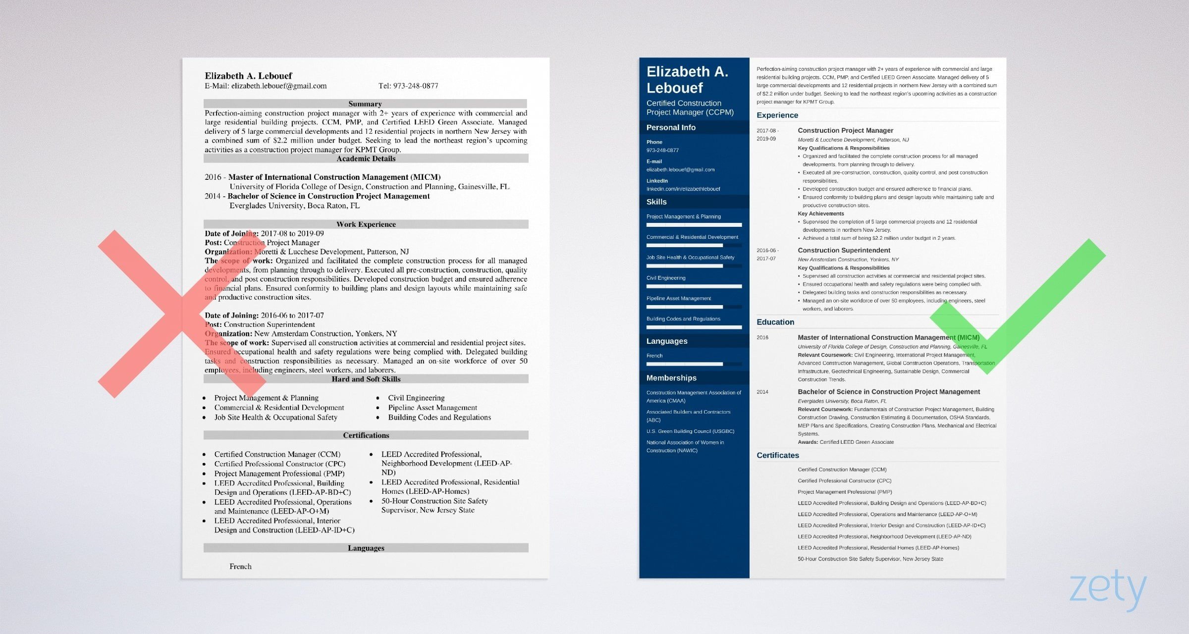 Construction Project Manager Resume Sample Full Guide 20
