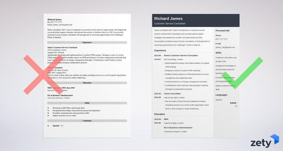 consulting cv templates