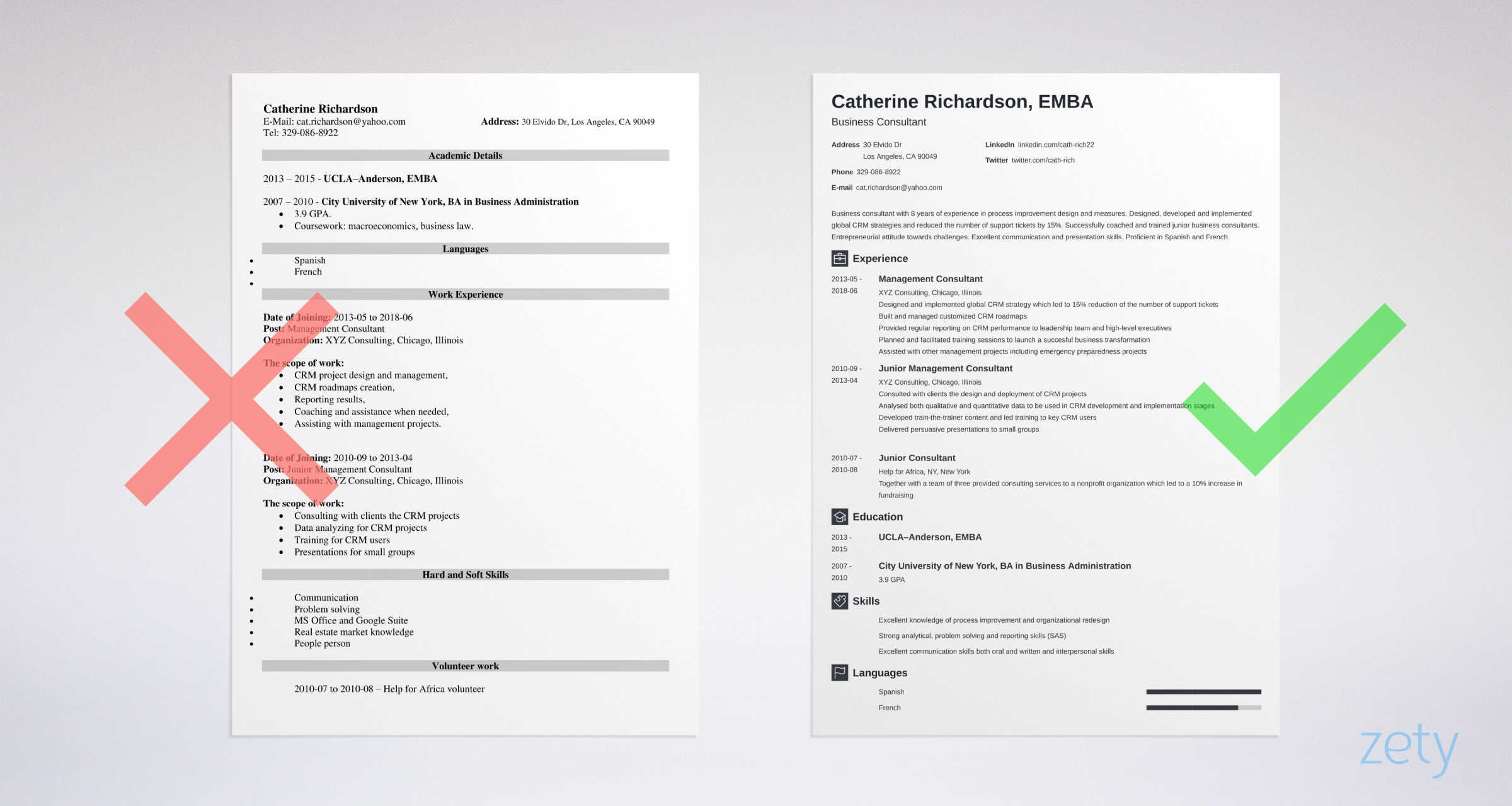 consultant_resume_example_9 One Page Curriculum Vitae Mckinsey on resume or, formato de, ejemplos de, high school, what is,